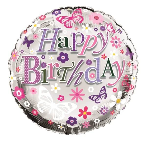Balloon Foil - Happy Birthday Female