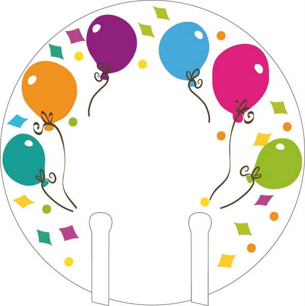 Party Glass Markers Balloon 12's