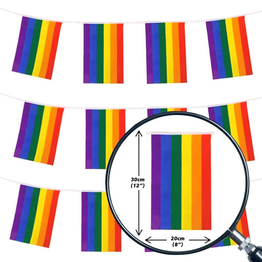 Rainbow Flag Bunting Gay Pride LGBTQ+