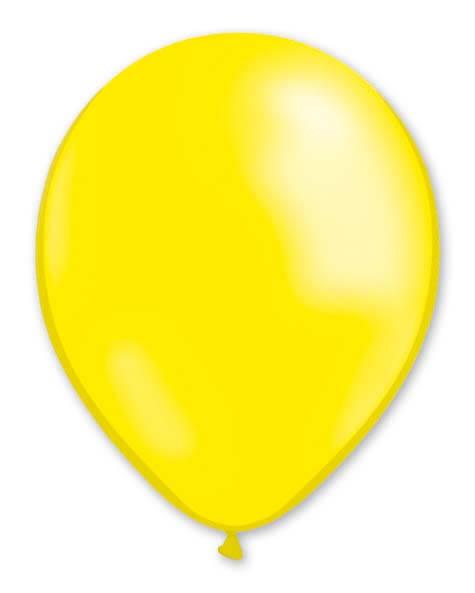 Balloon Metallic 13cm Yellow Lemon x1000