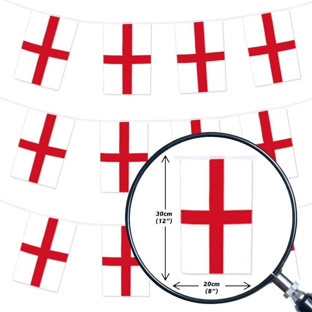 St George Flag Bunting England Bunting
