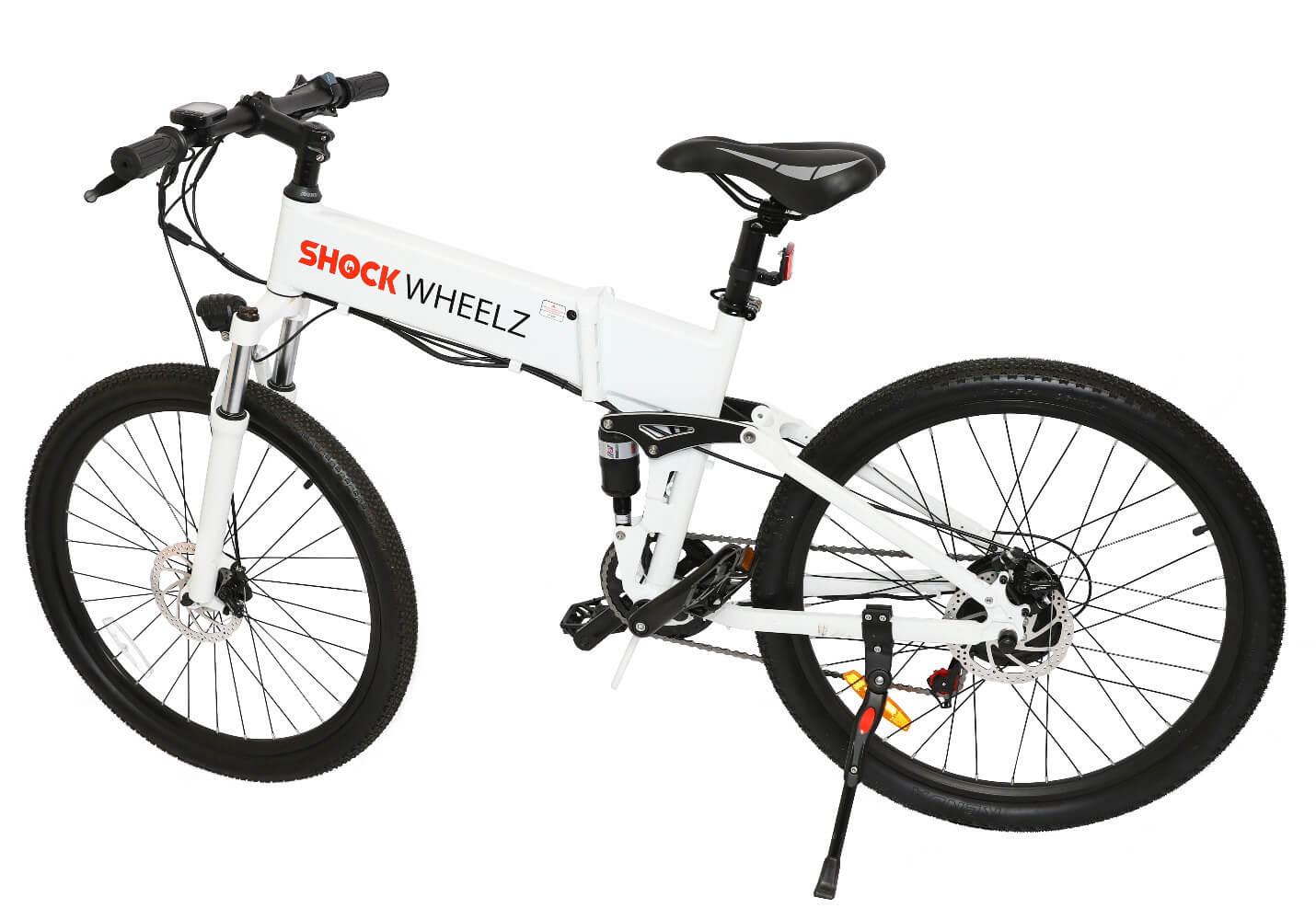 Shock Wheelz™ Electric Bike - White E-Bike