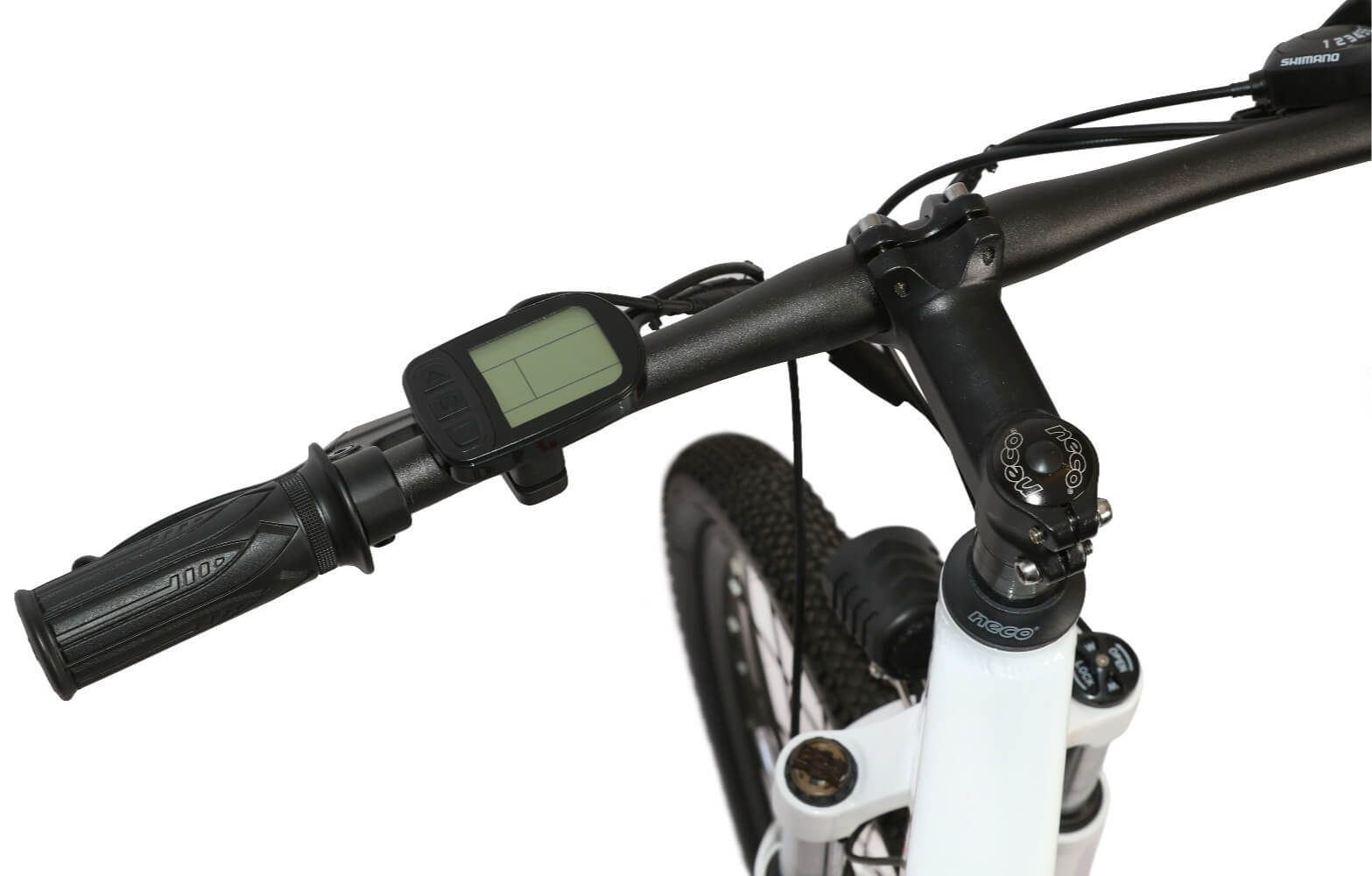 Shock Wheelz White Bike LCD